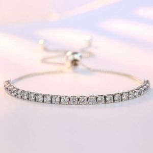 Jewelry - 925 STERLING SILVER DIAMOND TENNIS BRACELET
